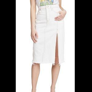 NWT Free People Mambo Denim Midi Skirt
